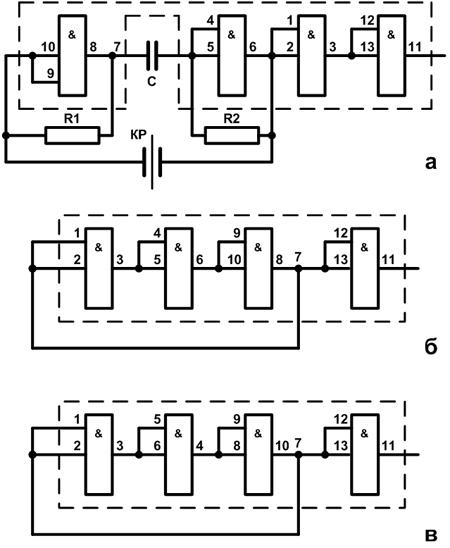 Схемы датчиков-генераторов
